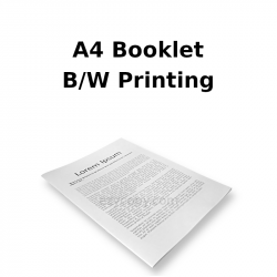 A4 Booklet B/W Printing