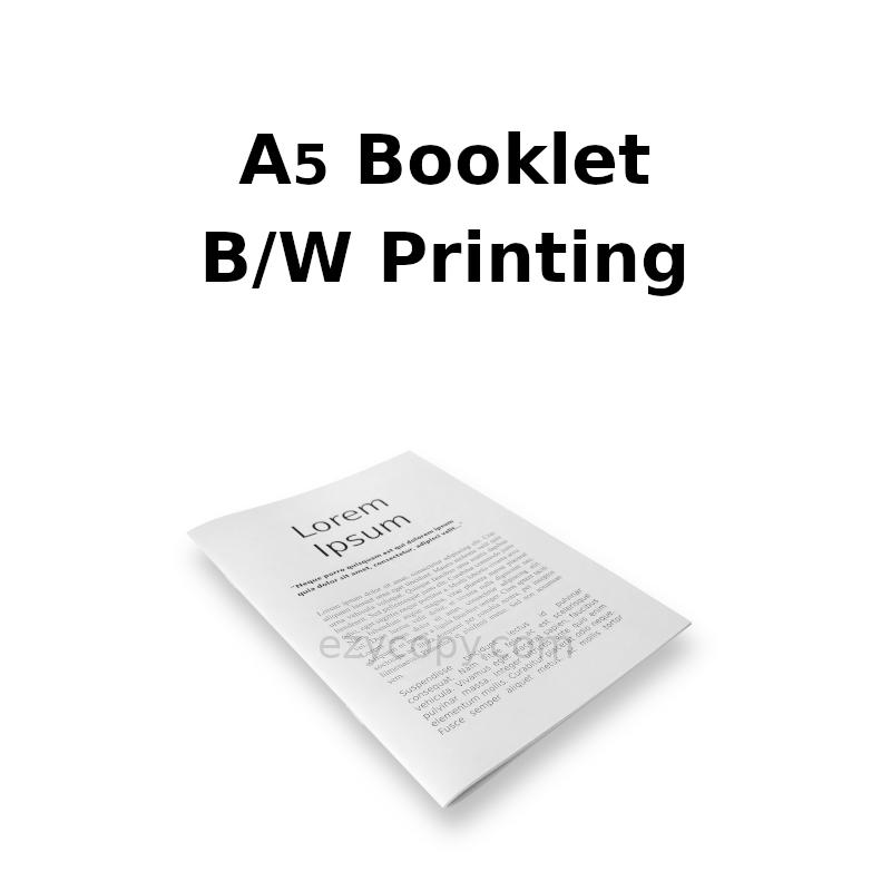 A5 Bookklet B/W Printing