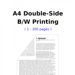 A4 Double-Side B/W Printing (1 - 300 pages)